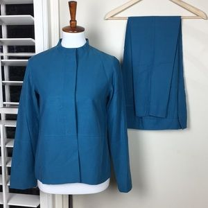 Pendleton pan suit blue silk blend XS